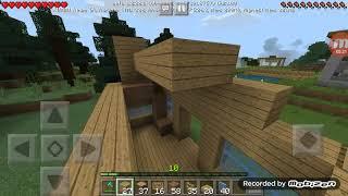 Membuat kandang bebek part2 map rohidgame Minecraft survival #6