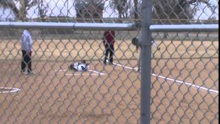 3-29-14 - Braxton Shelton Steals 3rd Base And Scores (mustangs 1, Bulldogs 0)