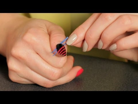 How to Do a Stripe Design with Tape | Nail Art Designs