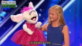 Niña ventrílocua sorprende cantando al jurado de America's got talent