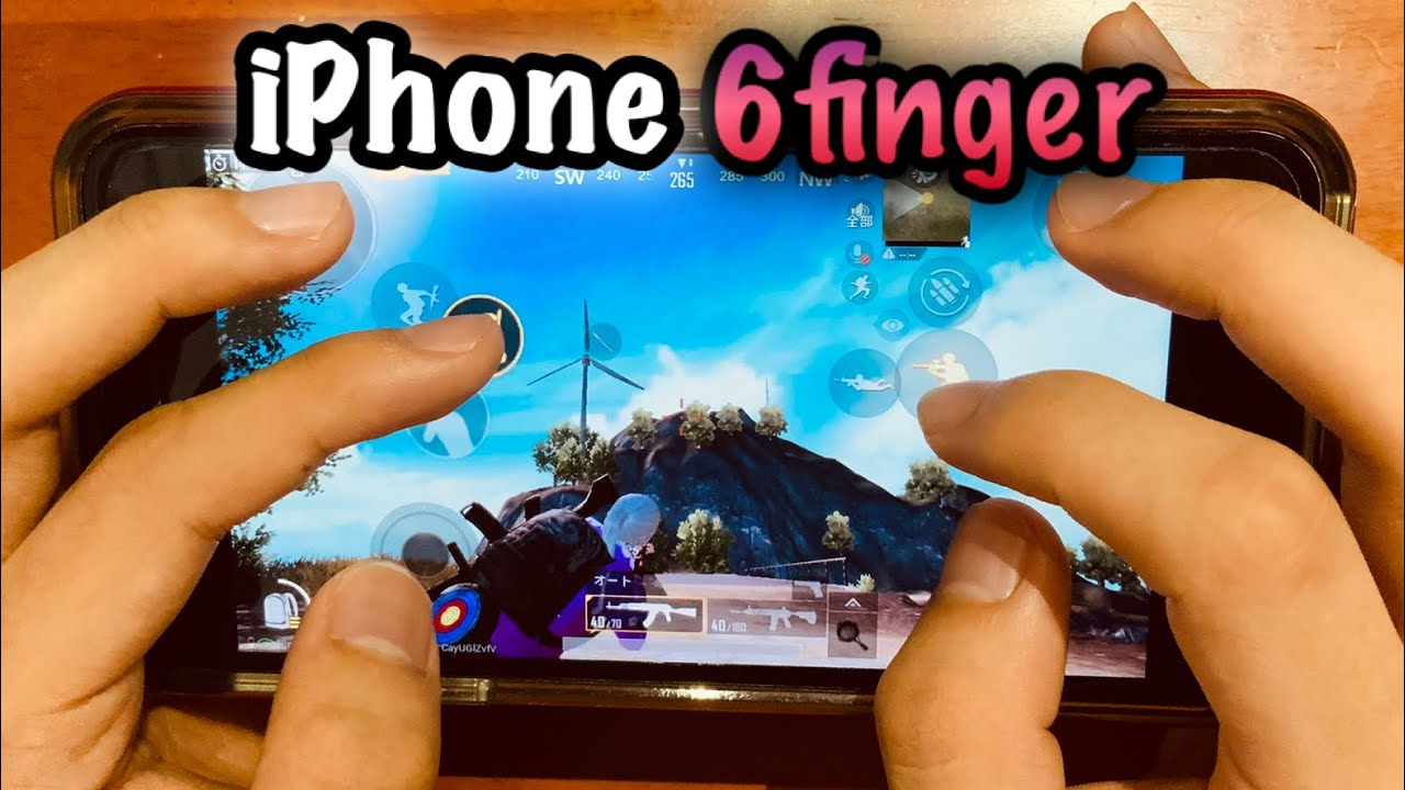 【PUBG MOBILE】iPhone 6Finger + Gyro hand cam + Settings by GENJ1 Gaming ??⚔