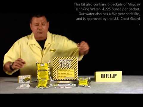 KKRT 3 day 1 person Box Kit - The Basic 3-Day Kit W/Flashlight & First Aid