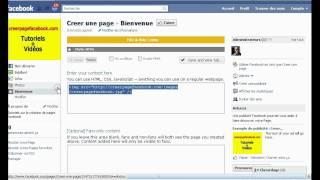 Tutoriel comment changer la page d'acceuil facebook pour une image