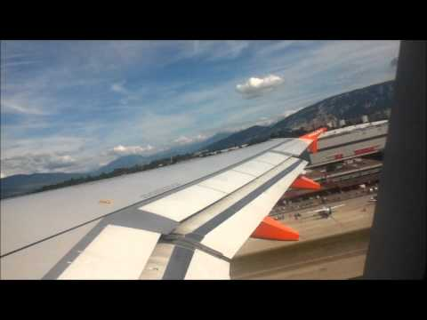Taxi and Take Off from Geneva in EasyJet A320 #16 August 2012# Flight EZS 1421