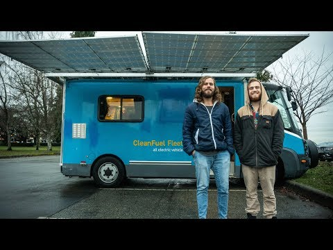 This ELECTRIC VAN Is Fully SOLAR powered with 6000+ Watts of panels! // VANLIFE TOUR
