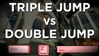 Phantom Forces TRIPLE JUMP vs DOUBLE JUMP +Tutorial! (roblox)