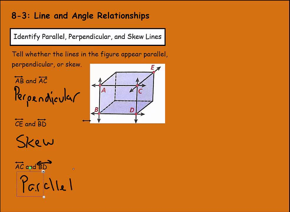Math 7 8-3 Line and Angle Relationships - YouTube