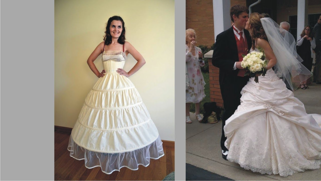 Clean Hoop Skirt Under Wedding Dress For Big Day - YouTube