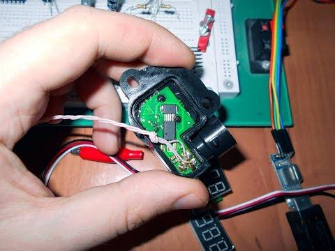 Снимаем показания с бесконтактного датчика положения дроссельной заслонки при помощи вольтметра