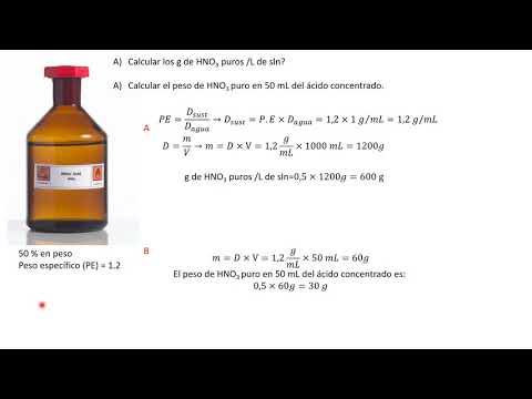 gram of HNO3 per liter of solution 50% massa/massa