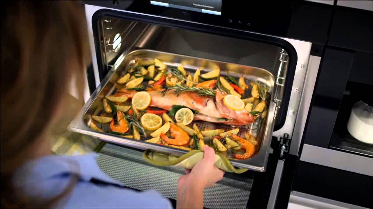 Miele italia forno a vapore con modalit forno tradizionale xl generazione 6000 youtube - Forno con cottura a vapore ...