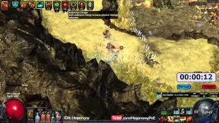 Path of Exile Act 4: Gorge Speed Run with Hypothermic Ice Crash Marauder