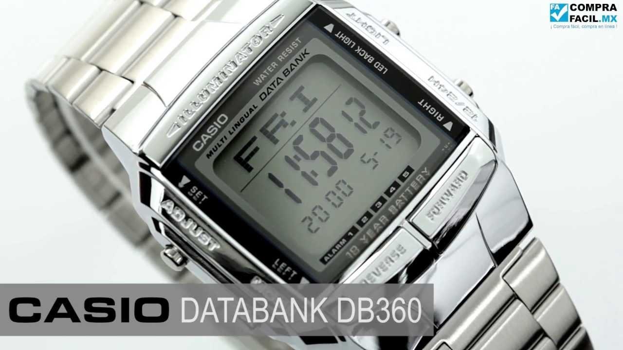 677e91e97a8ed Reloj Casio Retro Vintage DB360 Plata - www.CompraFacil.mx - YouTube