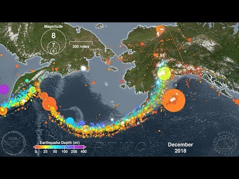 Earthquakes of Alaska: 1918 - 2019
