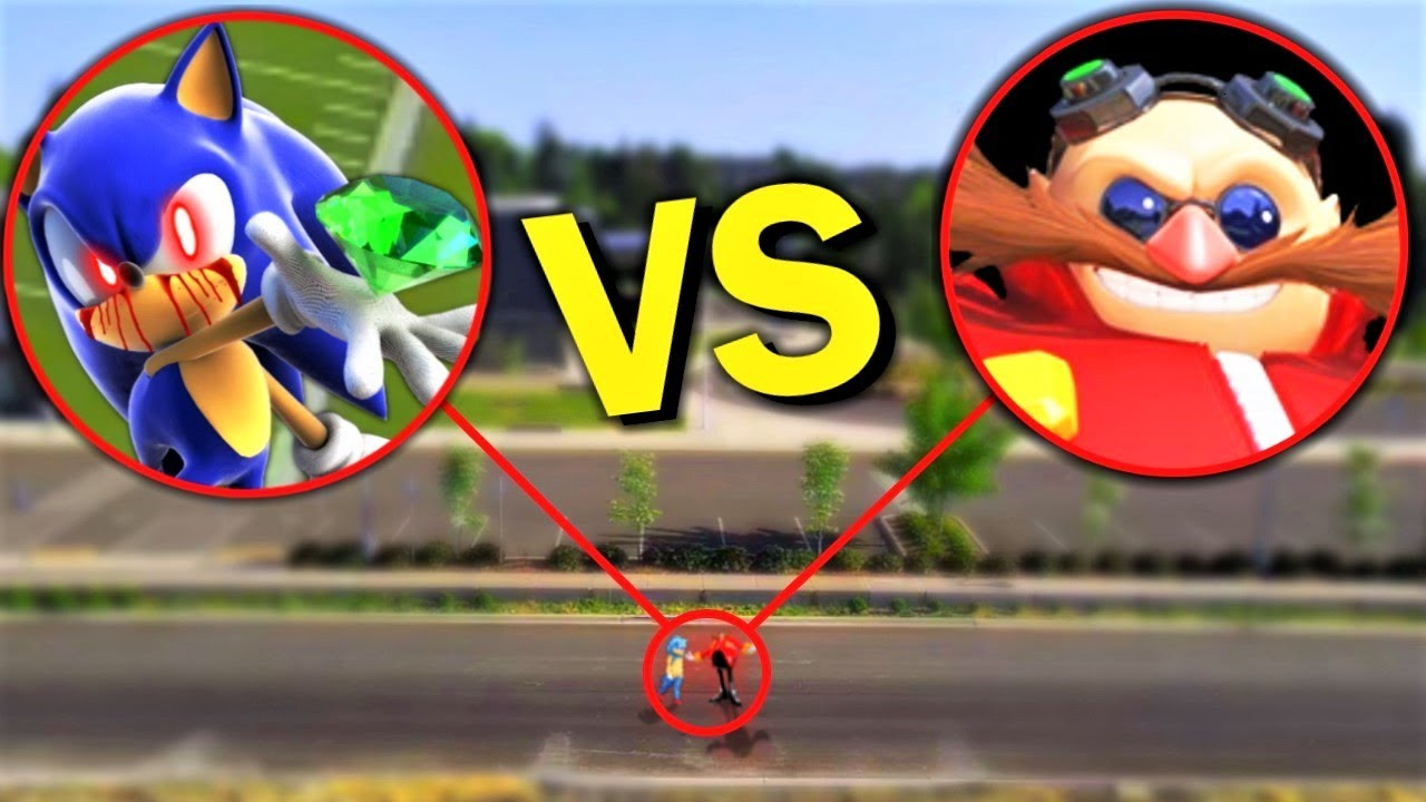 Drone Catches SONIC.EXE vs DR EGGMAN (From SONIC) IN REAL LIFE! *SONIC CHAOS EMERALDS IN REAL LIFE*