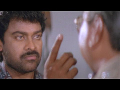 Chiranjeevi Powerful Dialogues With Police Officer || Gang Leader Movie || Sumalatha