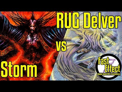 Storm VS RUG Delver | Legacy Magic: The Gathering W/Commentary | Brainstorm MTG | Fast Effect