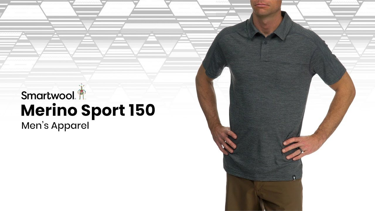 Moss Green Heather Smartwool Mens Merino Sport 150 Mountain Morning T-Shirt X-Large