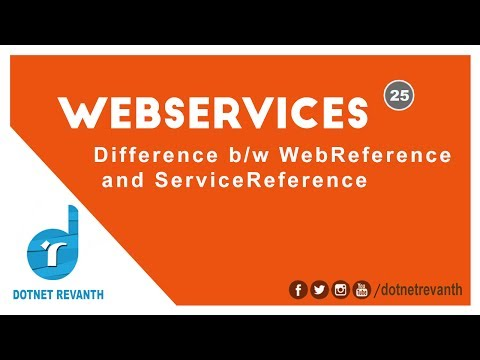 Difference between WebReference and ServiceReference || Part-25