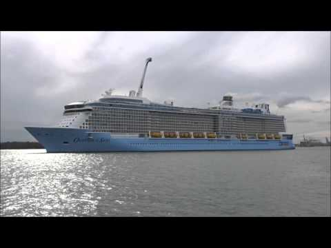 OVATION OF THE SEAS Departing Southampton 14 Apr 2016 - YouTube