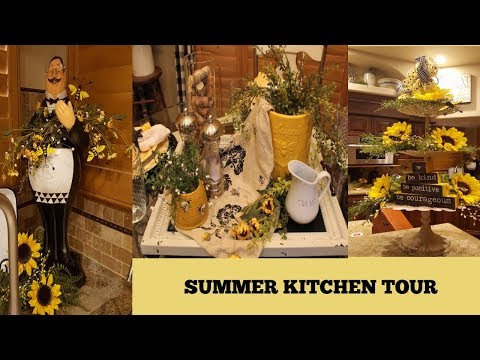 SUMMER HOME TOUR | THE KITCHEN | BEE AND SUNFLOWER DECOR