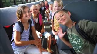 UNCLE PAUL drives the school bus