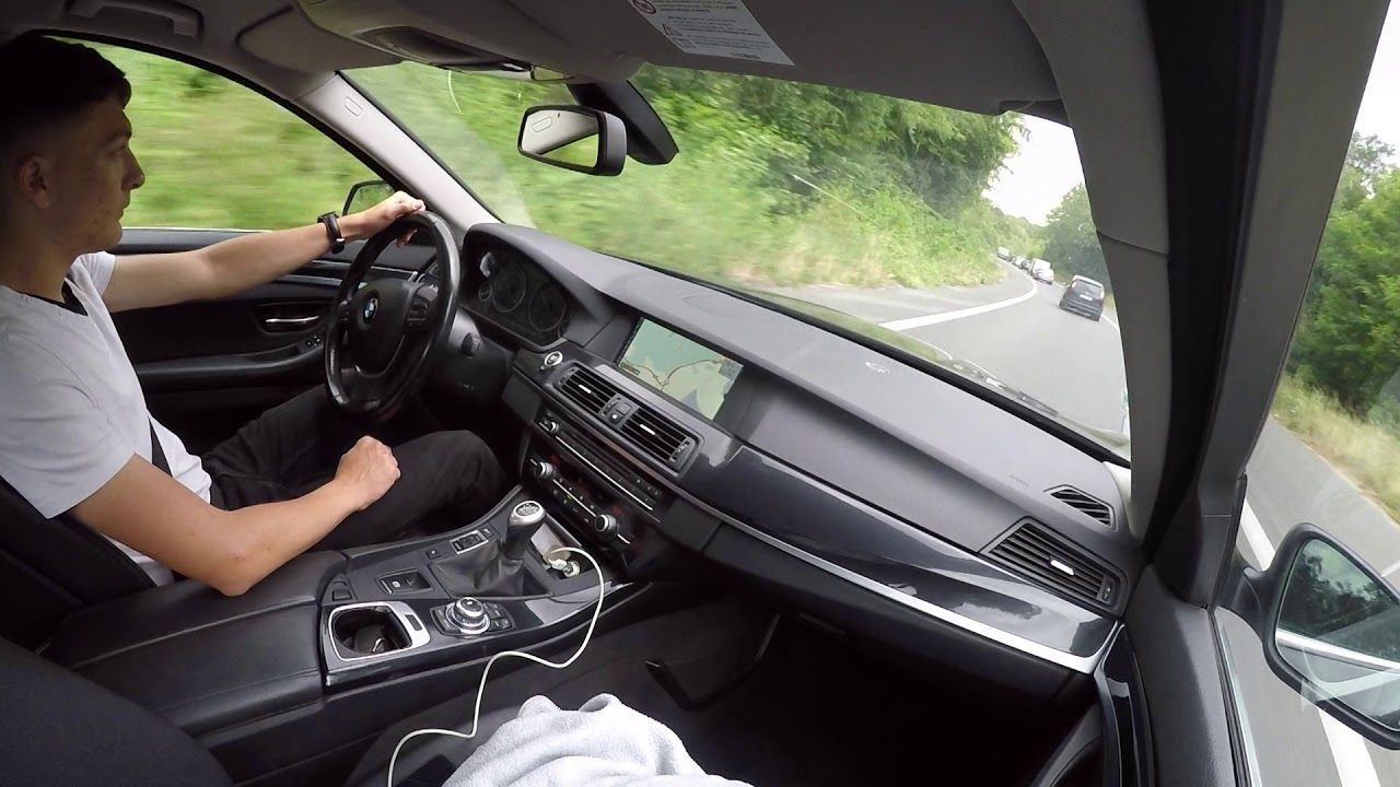 BMW 520d F10 (2012) - Driving From Work To Home