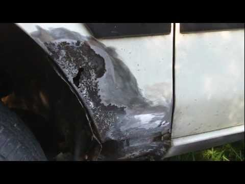 How to repair a rust hole on your vehicle.