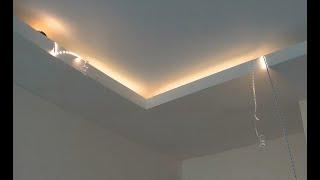 Как сделать потолок со скрытой подсветкой своими руками