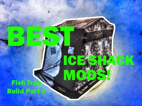 AWESOME Ice Shack (Fish Trap) Modifications! VIEWER RECOMMENDED!