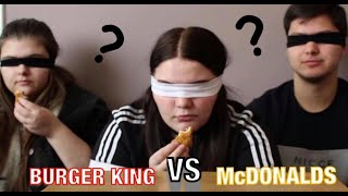 BLINDFOLDED TASTE TEST CHALLENGE: Burger King VS McDonalds