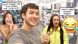 Saying EMBARRASSING THINGS To My Girlfriend In Public To See Her Reaction!