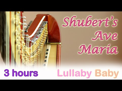 ☆ 3 HOURS ☆ Shubert's AVE MARIA ♫ Beautiful HARP Music Instrumental ☆ Baby Sleep Music