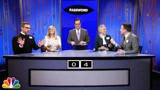 Jimmy and Ellen team up against Reese Witherspoon and Steve Carell in the game Password. Subscribe NOW to The Tonight Show Starring Jimmy Fallon: ...