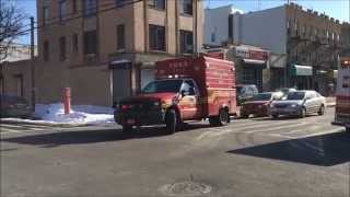 FDNY RAC 4 RESPONDING INTO 10-75 FIRE ON 23RD AVENUE IN DITMARS STEINWAY, QUEENS IN NEW YORK CITY.