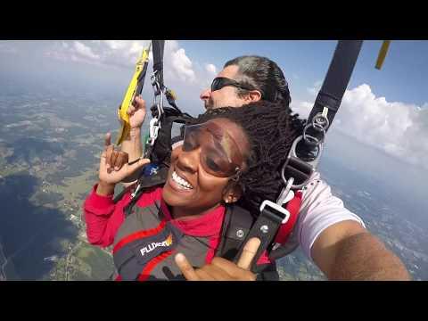 Skydive Alabama, Tandem Skydive, Krystle Allison From Birmingham, AL