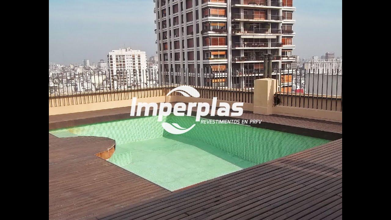 Revestimiento de piscinas con fibra de vidrio imperplas for Vidrio para piscinas