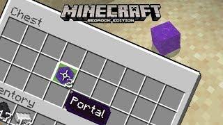 Nether Portal Block Farm 100%  in Survival! Minecraft (Tutorial ) MCPE / Xbox / Windows /Switch