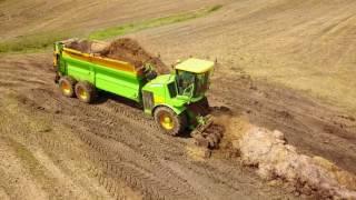 [DRONE] [4K] Degroote GreenCargo !! - UNIQUE Machine - Epandage de fumier - Août 2017 - Nivelles