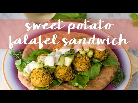 Sweet Potato Falafel Sandwich