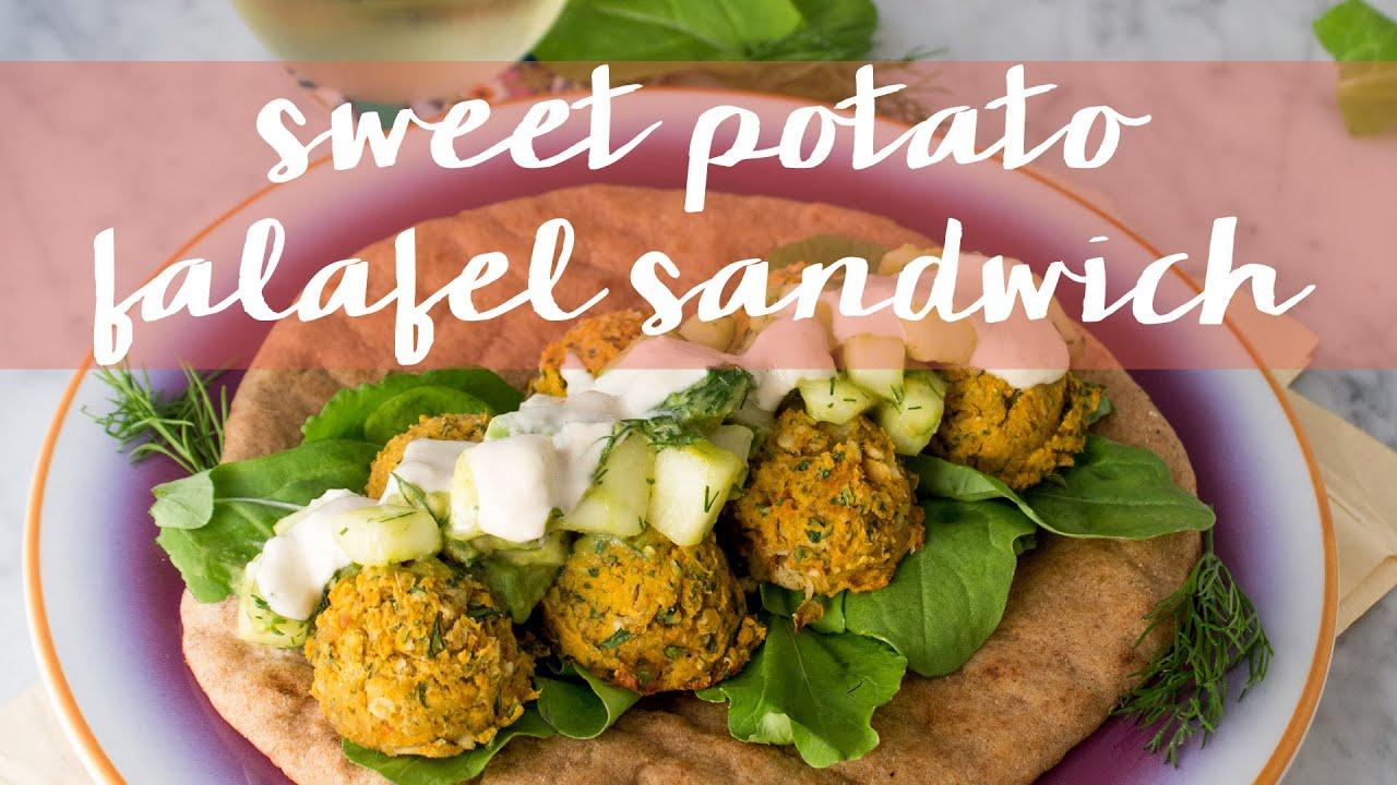 Sweet Potato Falafel Sandwich