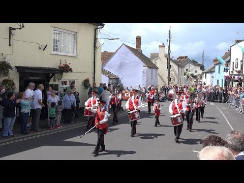 Barnstaple Town Youth Marching Band in the Watchet Carnival Parade 2017