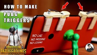How to make powerful PUBG triggers at home easy way, fire button DIY | TechAbuzar