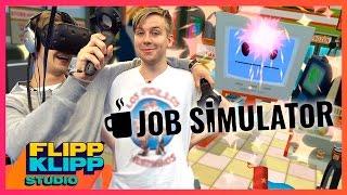 Å VÆRE YOUTUBER ER IKKE EN JOBB! (Job Simulator VR)