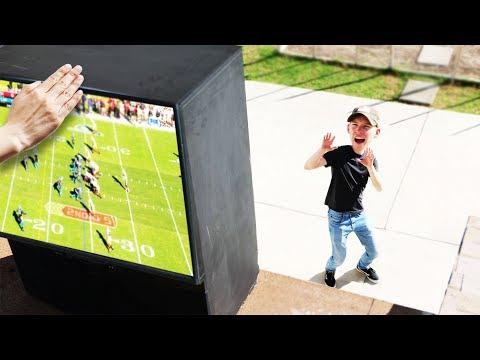 GIANT TV Drop Test! (DANGER ALERT)