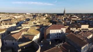 Vue Aérienne De La Tour Du Grand Port De Libourne