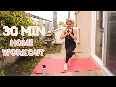 30 MIN FULL BODY HOME Workout | HIIT No Jumping, No Noise, Low Impact