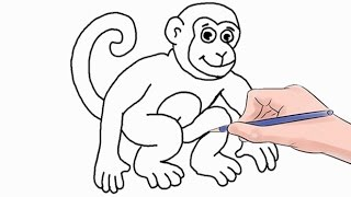 How to Draw a Monkey Easy Step by Step