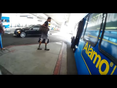 LAX Los Angeles Airport To Alamo Rent A Car (video Deshake Free) Ambient Sounds