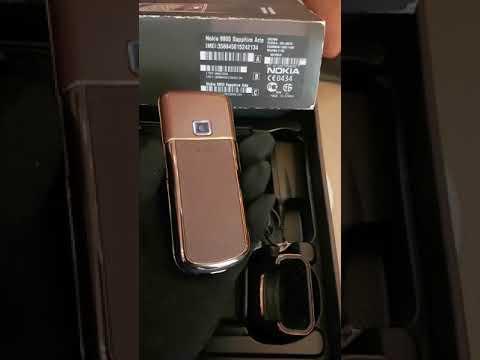Nokia 8800 sapphire arte nâu chưa lắp sim full box hộp trùng imei